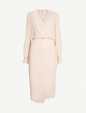 MAX MARA Manuel wrap-front stretch-wool and silk dress