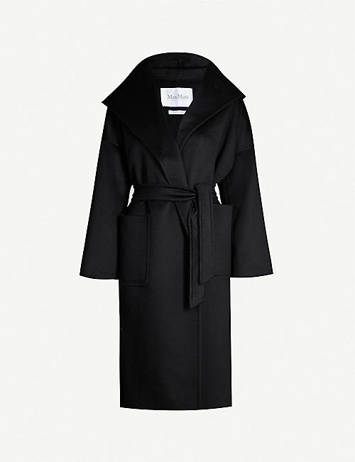 5f88e595d38 MAX MARA Marilyn hooded cashmere wrap coat