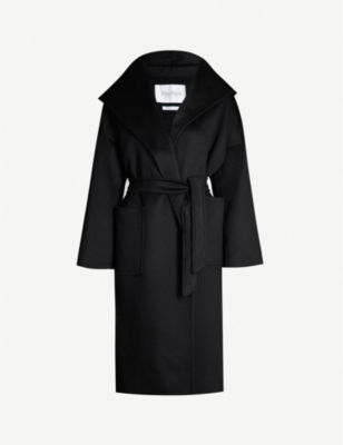 MAX MARA Marilyn hooded cashmere wrap coat