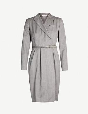 MAX MARA Martin pinstriped wool dress
