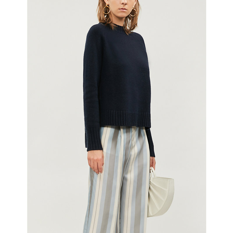 Max Mara Tops MODENA HIGH-NECK WOOL AND CASHMERE-BLEND JUMPER