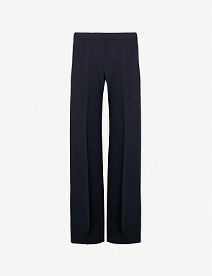 MAX MARA Mosella wide-leg high-rise crepe trousers