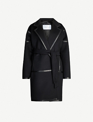 MAX MARA Nizza notch lapels wool-cashmere blend coat