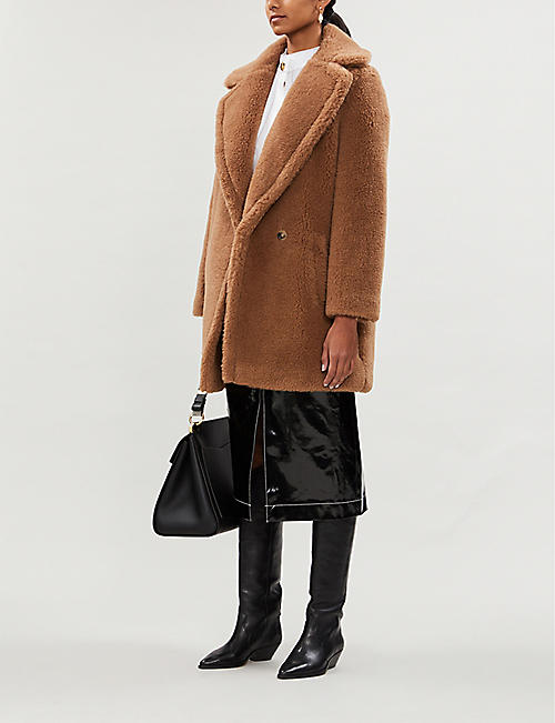 MAX MARA Ofelia wool and silk-blend teddy coat