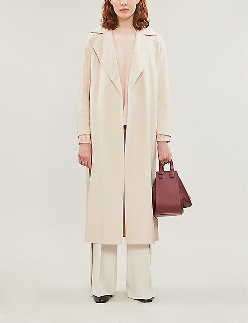 MAX MARA STUDIO Oncia tassle-fringe belt wool-blend coat