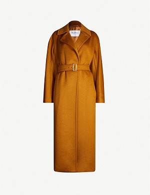 MAX MARA Belted cashmere wrap coat