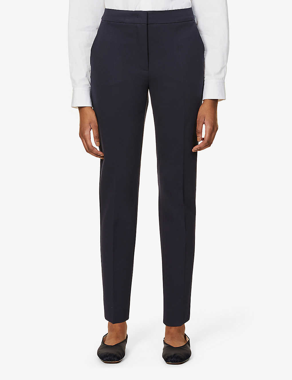 MAX MARA: Pegno straight high-rise stretch-jersey trousers