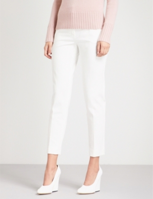 Max Mara Wools Pegno straight high-rise stretch-jersey trousers