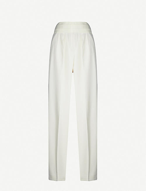 MAX MARA ELEGANTE Persia wide-leg high-rise wool trousers