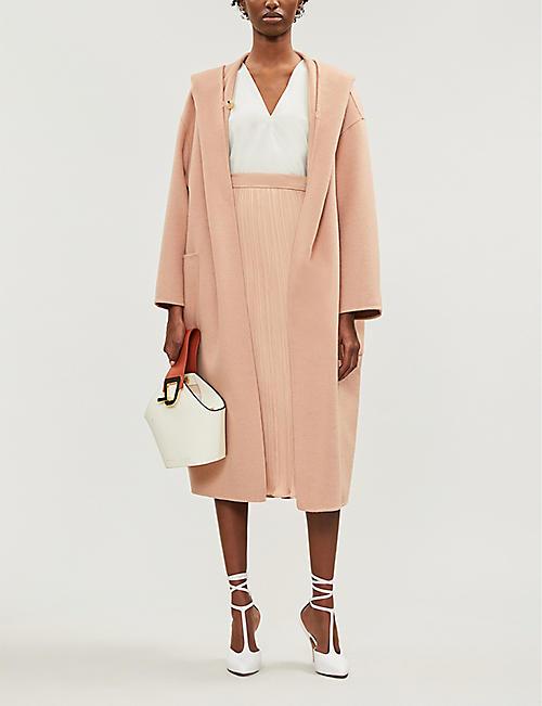 67653212ecb55 MAX MARA Pucci shawl-lapel camel-hair wrap coat