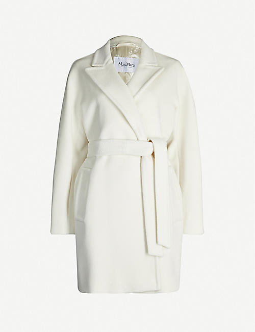 MAX MARA Tie-belt wool and cashmere-blend wrap coat
