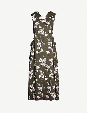 S MAX MARA Rasoio floral-print cotton-jersey midi dress