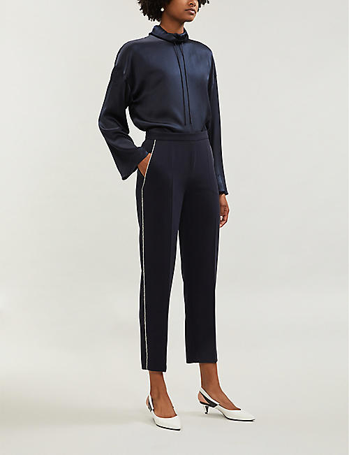 MAX MARA STUDIO Remo high-rise crepe trousers