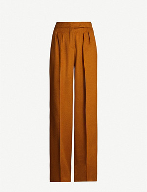 MAX MARA Renon relaxed-fit high-rise wool trousers