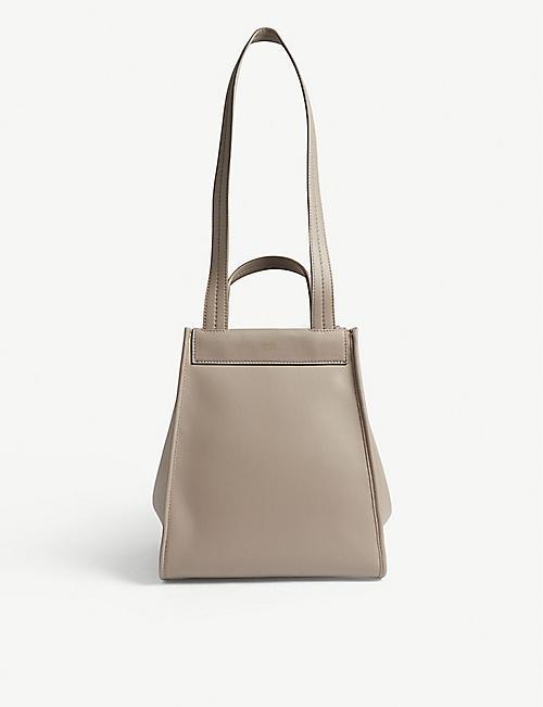 07a917446efa MAX MARA M5 reversible leather and cashmere shopper