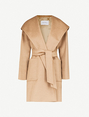 MAX MARA Rialto wrap-over camel hair coat