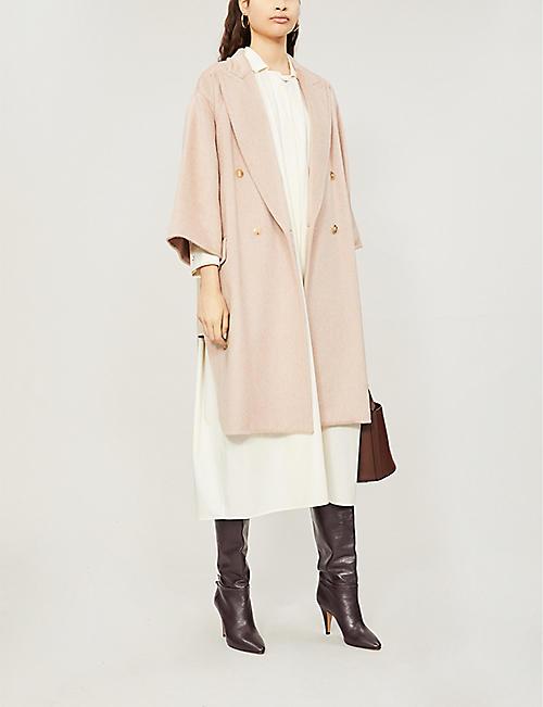 d974607fc7dcb MAX MARA Risorsa double-breasted cashmere and camel wool-blend coat