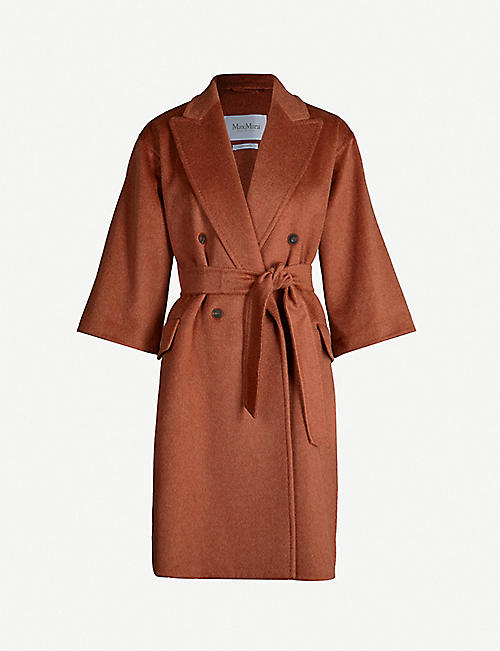 MAX MARA Risorsa double-breasted cashmere and camel wool-blend coat