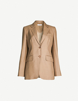 MAX MARA Rosina single-breasted camel wool and silk-blend jacket