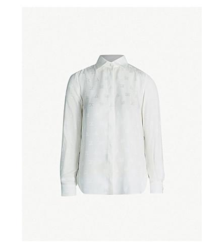 54ebf742eac324 MAX MARA - Salubre logo-embroidered silk-crepe shirt