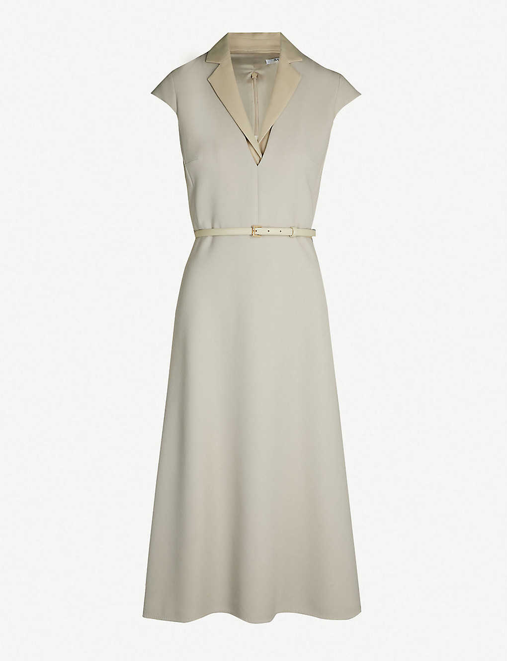 283c0455d MAX MARA - Silvia belted stretch-wool midi dress | Selfridges.com