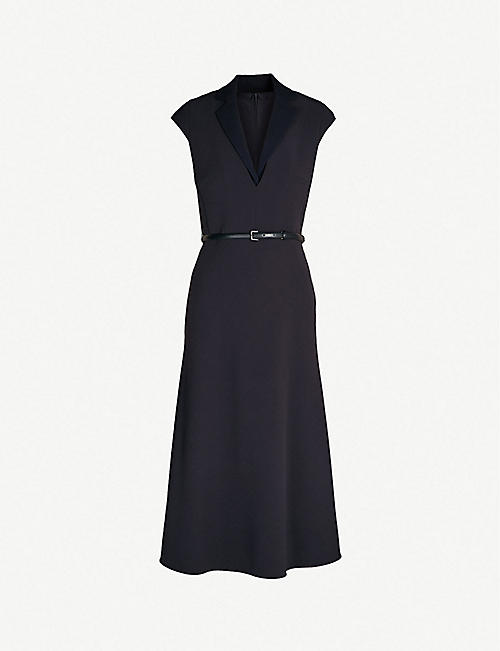 111b2d1a7f MAX MARA Silvia belted stretch-wool midi dress