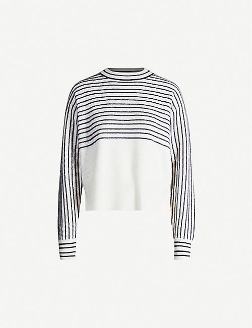 SPORTMAX Strano striped cashmere jumper