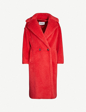 MAX MARA Ted Girl notch-lapel wool and silk-blend teddy coat
