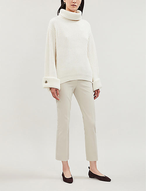 S MAX MARA Umanita slim-fit cropped stretch-twill trousers