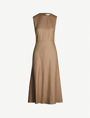 MAX MARA Ural wool and silk-blend midi dress