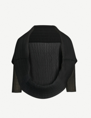 MAX MARA Vesuvio pleated crepe cape