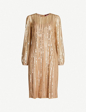 MAX MARA STUDIO Zorro sequin-embellished tulle mini dress
