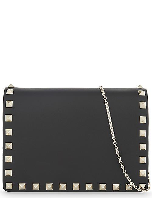 VALENTINO Rockstud small leather cross-body bag 67a9fd41ac4