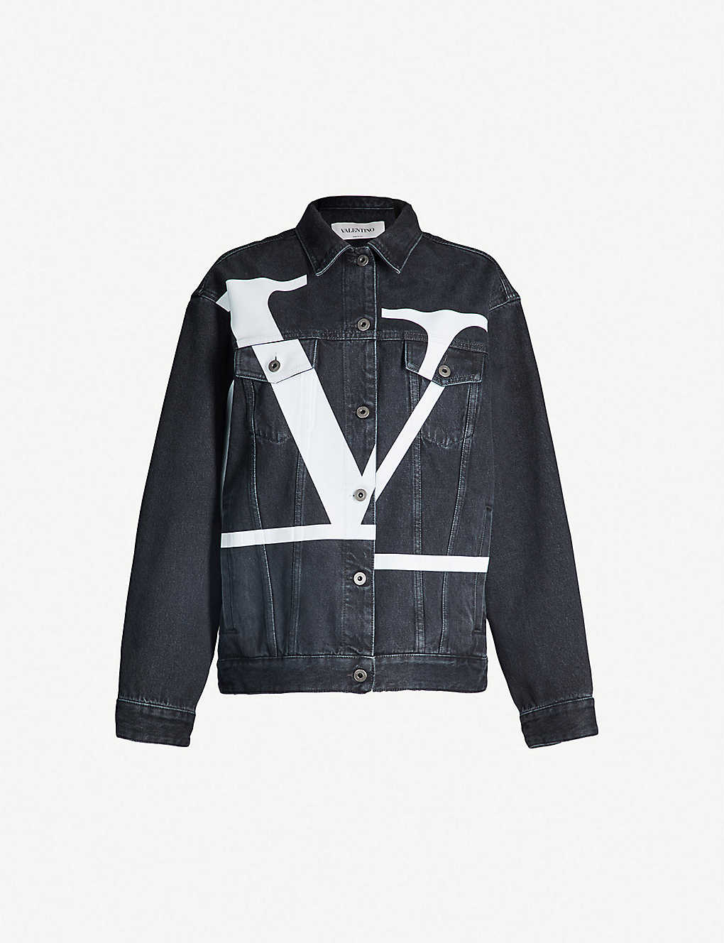 7fefe7de5 VALENTINO - Go Logo oversized denim jacket | Selfridges.com