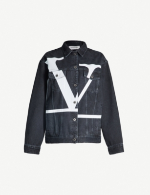 VALENTINO Go Logo oversized denim jacket