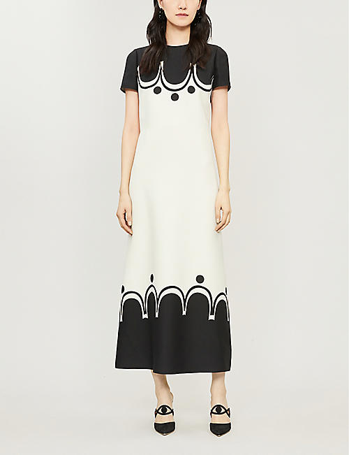 VALENTINO Graphic-print woven maxi dress