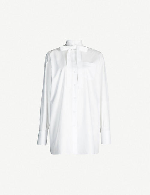 5d87833c329cdf Satin Bow Blouse DIANA t Satin blouses Satin and Blouse