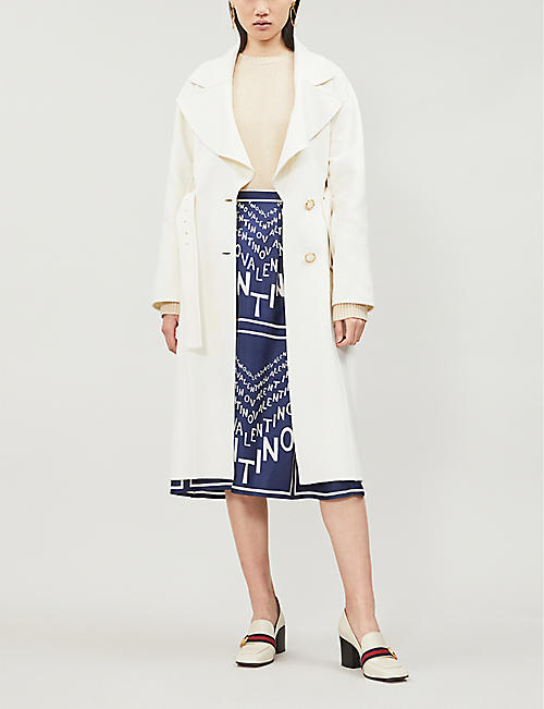 VALENTINO Belted single-breasted cashmere coat