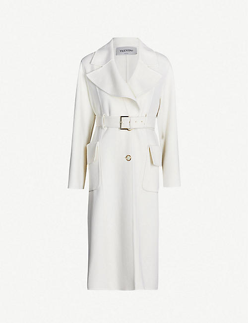 VALENTINO Belted single-breasted cashmere coat 6d539f04a