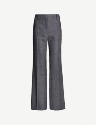 VALENTINO Wide-leg wool trousers