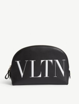 VALENTINO VLTN leather makeup bag