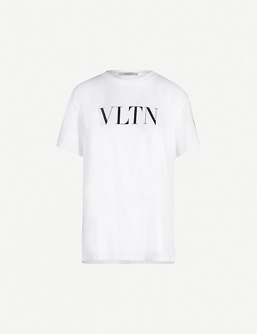 9ee719c6ea2 VALENTINO Logo-print cotton-jersey T-shirt