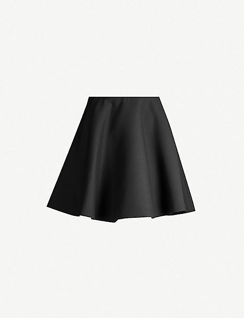 VALENTINO Flippy high-waist wool and silk-blend mini skirt