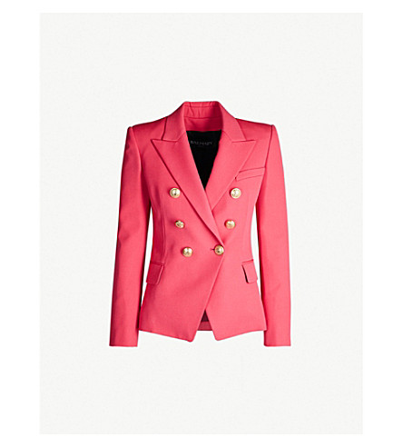 Double Breasted Wool Blazer by Balmain