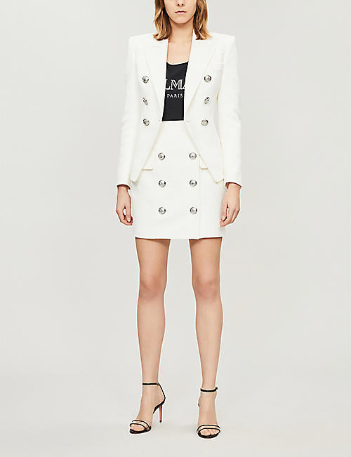 BALMAIN Logo-print cotton body