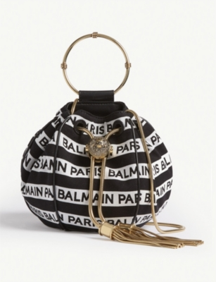 BALMAIN Logo Mini B-Bucket bag