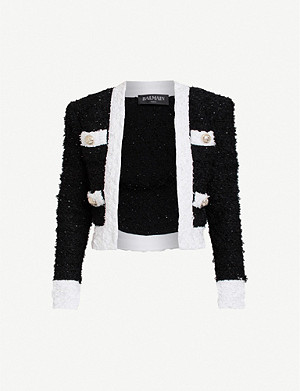BALMAIN Cropped tweed jacket