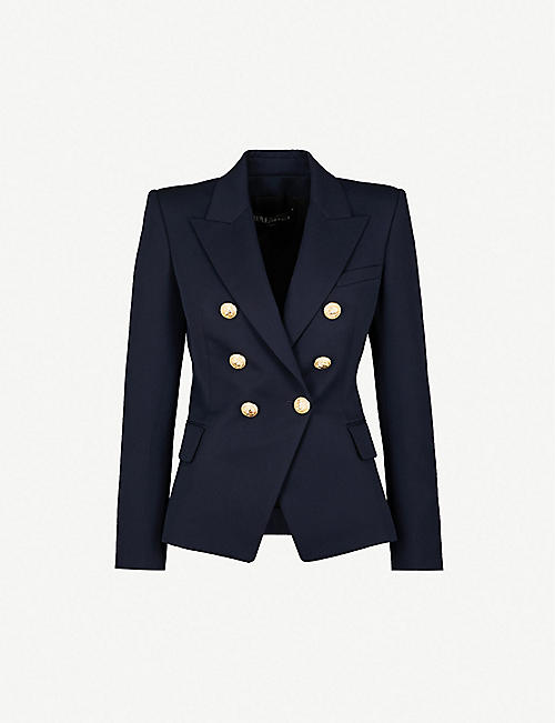 BALMAIN Double-breasted wool-twill blazer d35f8cb23827