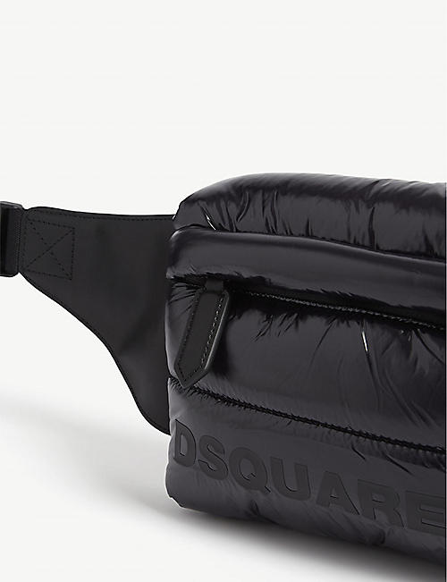 DSQUARED2 Logo quilted nylon belt bag