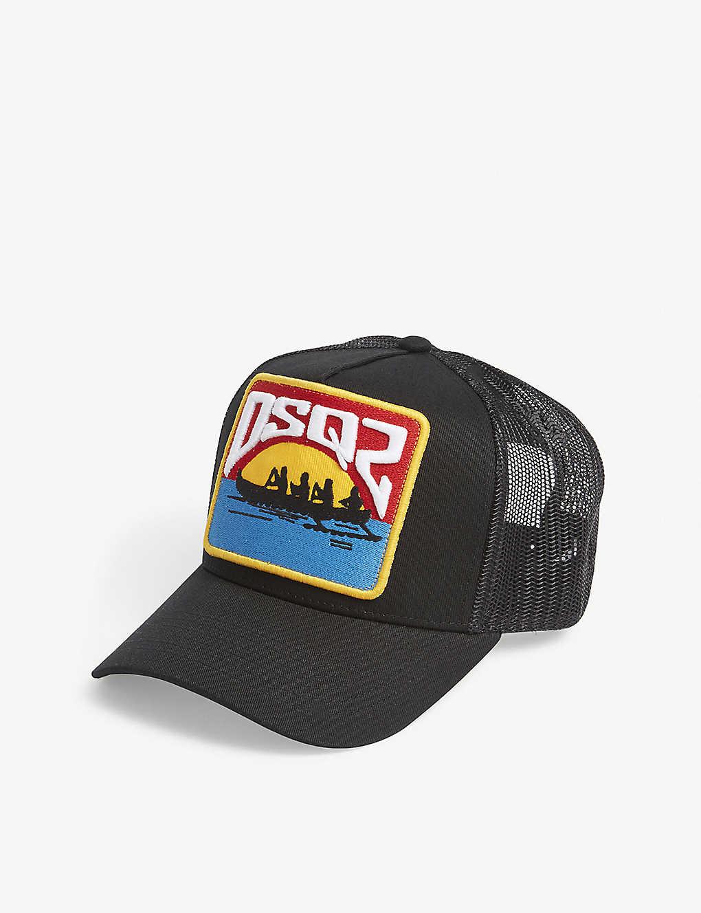8fbe1bb47402ee DSQUARED2 - Canoe patch snapback trucker cap | Selfridges.com